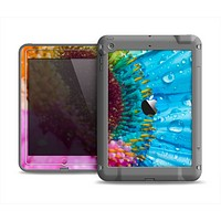 The Vibrant Colored Wet Flower Apple iPad Mini LifeProof Fre Case Skin Set
