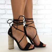 Wrap City Heels in Black