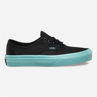 Vans Pop Outsole Authentic Girls Shoes Black/Aruba Blue  In Sizes