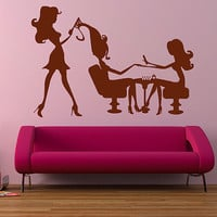 kik852 Wall Decal Sticker Room Decor Wall Art Mural hair salon beautiful girl manicure nail salon Reception entrance hall