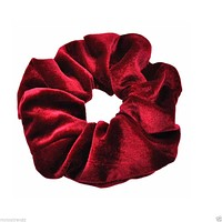 Luxurious Soft Feel Velvet  Hair Scrunchie Ponytail Donut Grip Loop Holder Stretchy Hair band