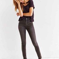 BDG Twig High-Rise Ankle-Zip Jean - Faded Black- Washed Black