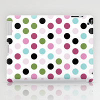 Modern Chic Large Polka Dots iPad Case by Doucette Designs