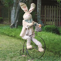 Boy Easter Bunny Riding a Vintage Bike