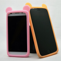 Z3/Z2 Phone Cases Cat ears Silicone Phone Cover Case For Sony xperia z3/M2/Z2/Z1/C3/e3/e4/t3/z3 compact/sp Case