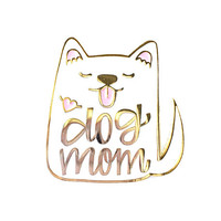 Dog Mom Enamel Pin - Dog Pin - Dog Enamel Pin - Dog Brooch Pin - Dog gift - Dog lapel pin