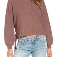 Dreamers by Debut Lace-Up Sweater | Nordstrom