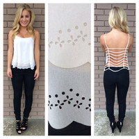 White String Back Tank