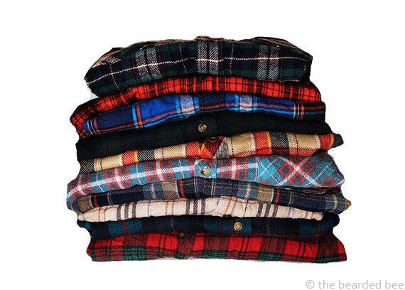 Image of 5 Pack of Vintage Flannel Mystery Shirts