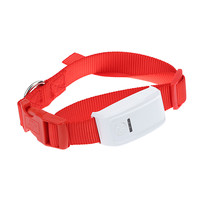 Mini GPS Tracker with Collar Waterproof Real Time Locator for Pets Dogs Cats Tracking Geofence