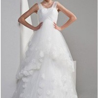 Elegant Ball Gown Dual Straps Tulle Wedding Dress For Pregnant