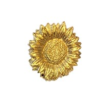 Van Gogh Sunflowers Gilt Pin Badge Pinback Tie Tack