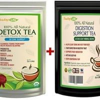 Detox tea and digestive tea kit