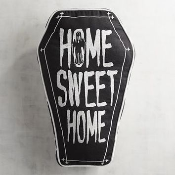 Embroidered Home Sweet Home Coffin Pillow