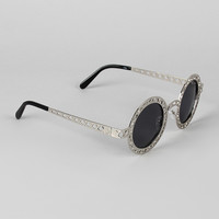 Lattice Round Eye Sunglasses