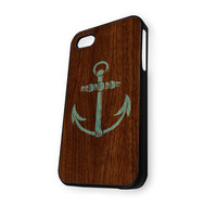 Anchor Wood Logo iPhone 4/4S Case