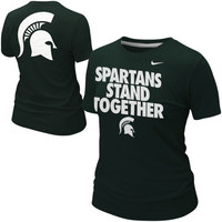 Nike Michigan State Spartans Ladies Student Body Fan T-Shirt - Green