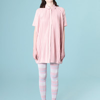 Pleated Shirt Dress Pink
