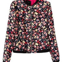 Fashion 2016 Trending Fashion Floral Printed  Sweater Cardigan Coat Jacket Outerwear _ 9512