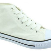 Inspired By Converse Back To School High Top Sneakers - White