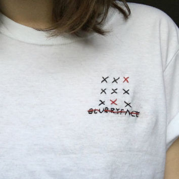 Twenty One Pilots 'Blurryface' Embroidered Shirt