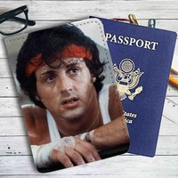 Rocky Balboa Leather Passport Wallet Case Cover