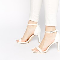 New Look Sensatory 2 White Barely There Heeled Sandals