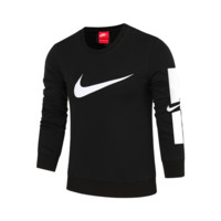 NIKE autumn and winter new long-sleeved round neck cotton casual pullover sweater black