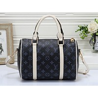 Louis Vuitton LV Fashion Multicolor Full Print Luggage for Men and Women Traveling Home Blue