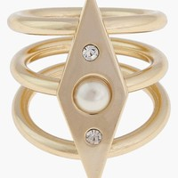 Women's Rebecca Minkoff Faux Pearl Stack Ring