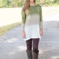 Nothing To Hide Tunic-Olive