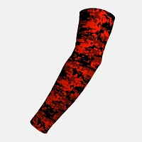 Digital Ultra Camo Orange Red Black Arm Sleeve