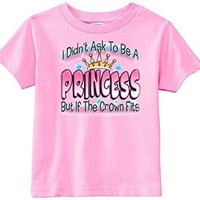 Lil Shirts Little Girls If The Crown Fit Toddler Graphic Tee