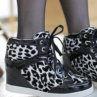Black lace up high top from 2NDAPRIL