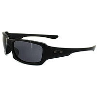 mieniwe? Cheap Oakley Sunglasses Fives Squared OO9238-04 Polished Black Grey