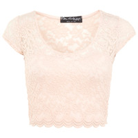 Scallop Lace Crop - View All