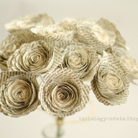 Roses Made from Books - Harry Potter, Game of Thrones, Hunger Games Bouquets and more - Bridesmaid Bouquet - Eco Home and Wedding Decor