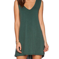 Fall Fashion Green Sleeveless Casual Dress