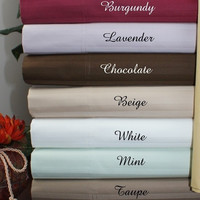 600TC Cal King Water Bed Egyptian Cotton Striped Sheet Set -Unattached