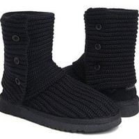 Black Classic Cardy UGG Boots [5819 Black] - $76.69 :