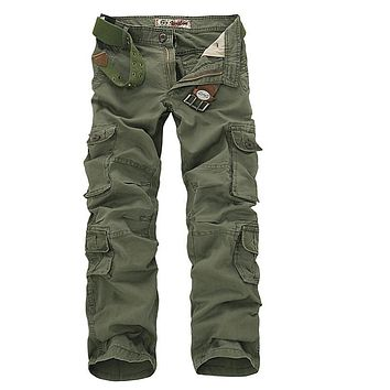 28-46 Camouflage military pants men trousers Cotton Breathable Multi Pocket tactical army pants Cargo pants mens Casual Pants