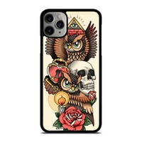 OWL STEAMPUNK ILLUMINATI TATTOO iPhone Case Cover