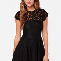 BB Dakota Rylin Black Lace Dress
