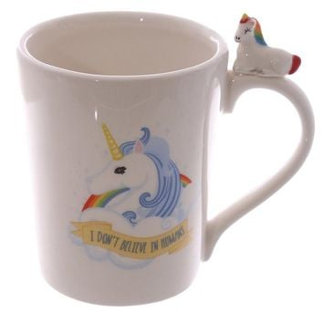 """""""I Don't Believe In Humans"""" 3D Coffee Mug"""