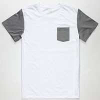 BLUE CROWN Contrast Mens Pocket Tee | Solid & Stripe Tees