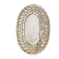 Carmelita Mirror in Silver Leaf