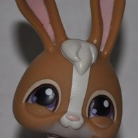 Rabbit #28 (Brown) - Littlest Pet Shop (Retired) Collector Toy - LPS Collectible Replacement Figure - Loose (OOP Out of Package & Print
