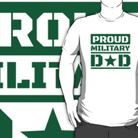 Proud Military Dad by Albany Retro