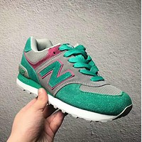"""""""New Balance"""" Fashion Casual All-match N Words Breathable Couple Sneakers Shoes Green I-PSXY"""
