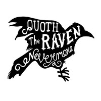 Quoth The Raven Character-Type Wall Decal